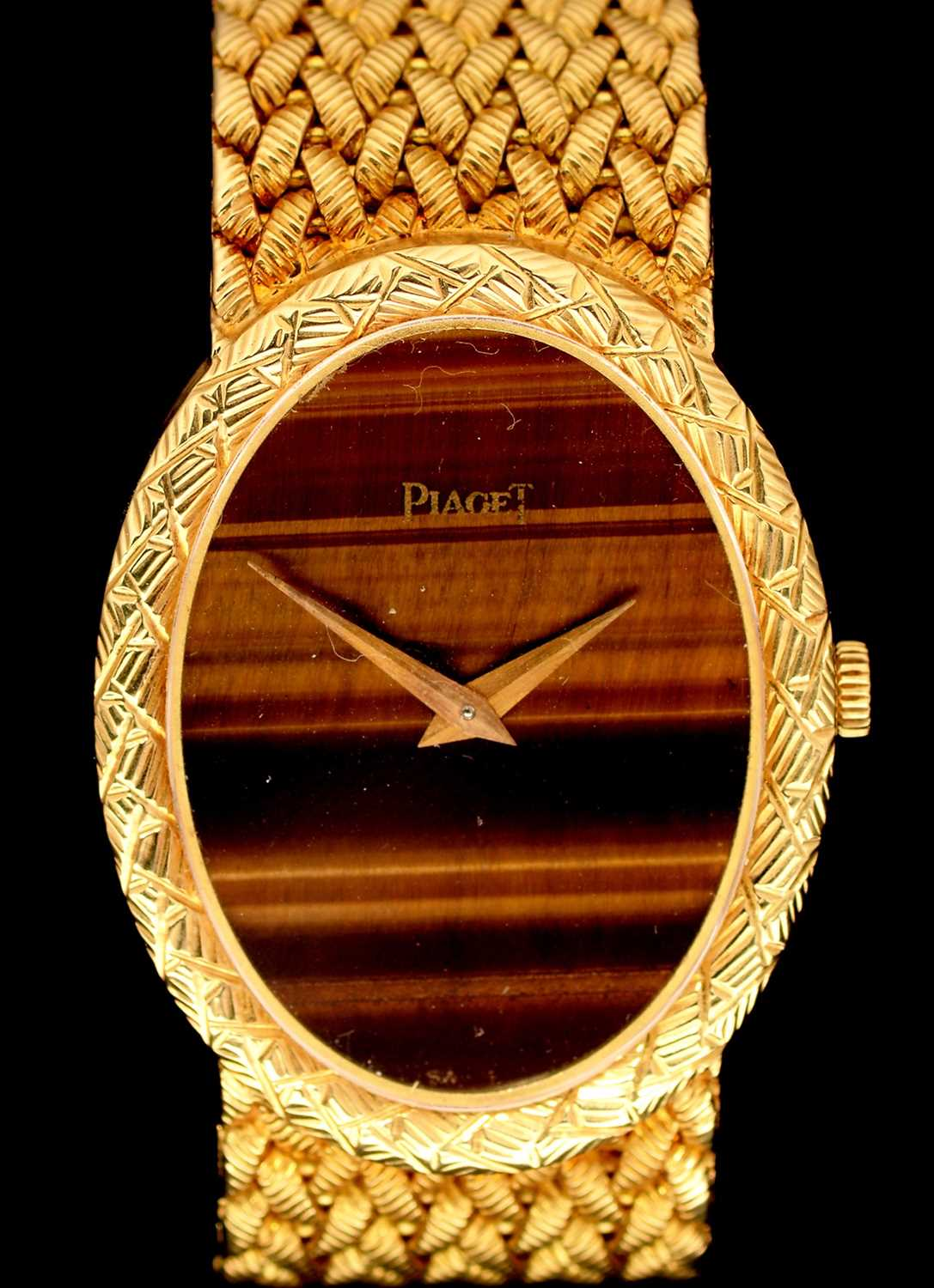 Lot 13-Piaget 18ct gold watch
