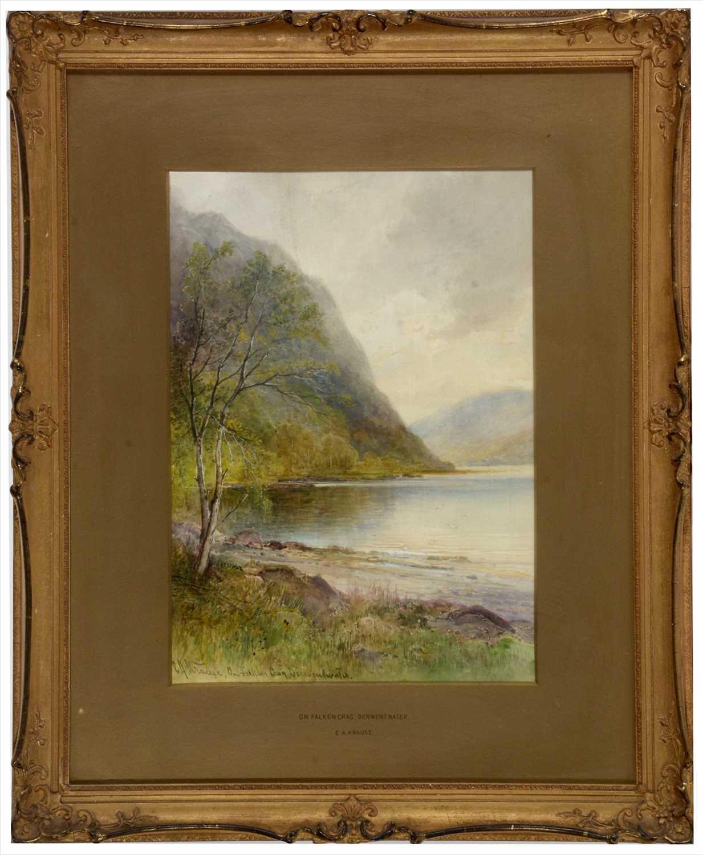 Lot 995-Emil Axel Krause - watercolour