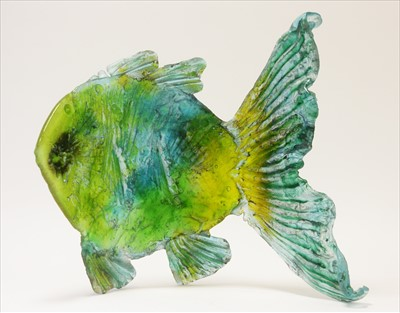 Lot 918-large modern glass fish sculpture