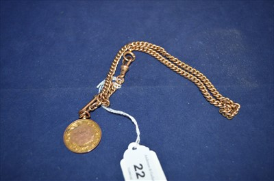 Lot 22-Albert chain and fob