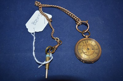 Lot 25-Fob watch on chain