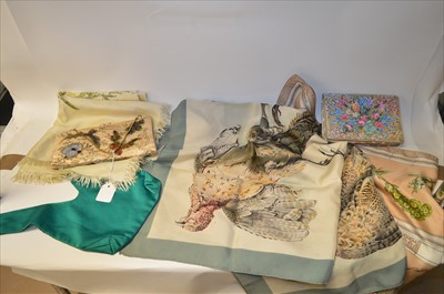 Lot 60-Scarves and handbags