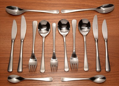 Lot 919-A part Herbert Housley Penthouse stainless steel cutlery set.