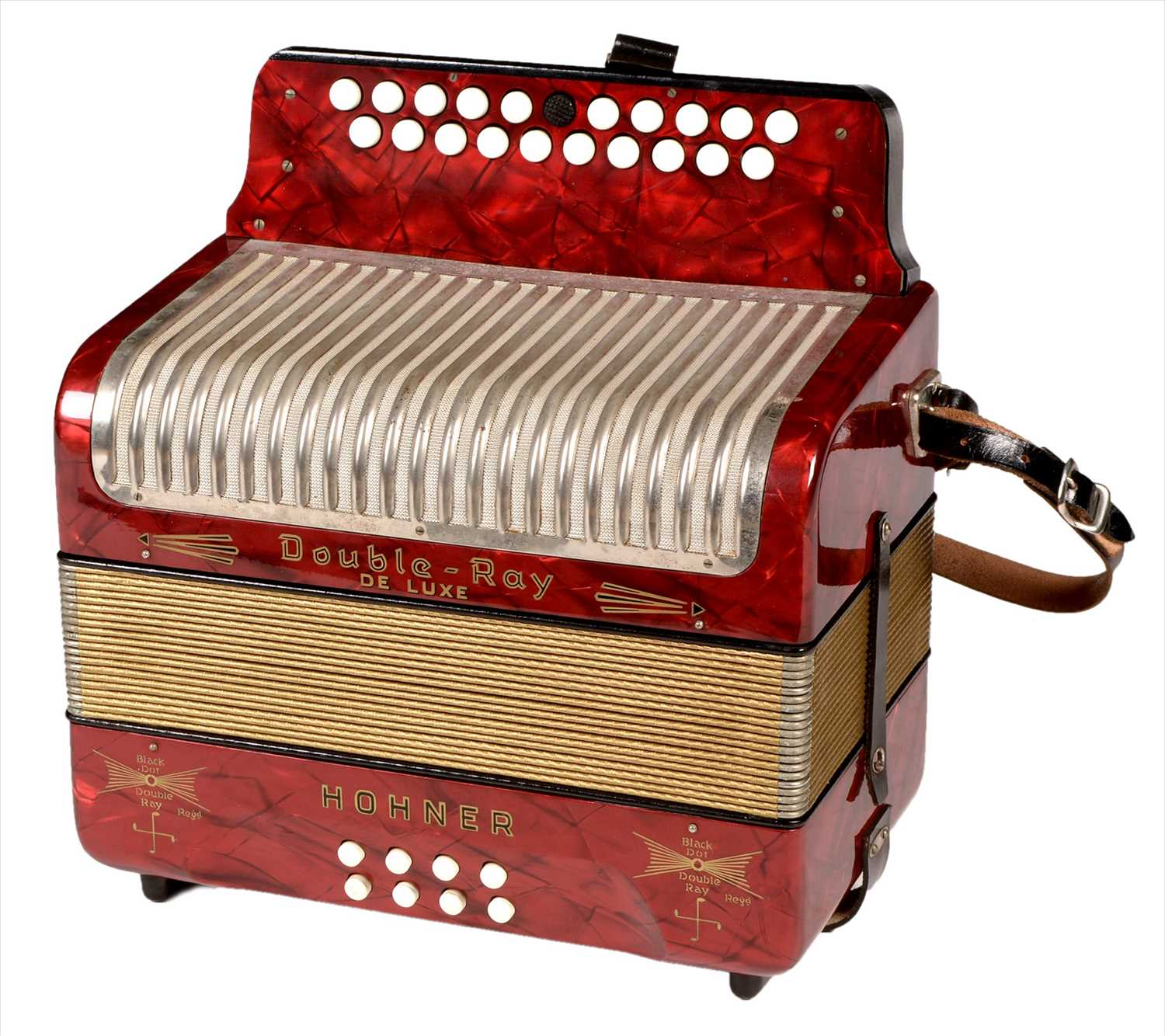 Lot 2-Hohner Double-Ray button accordion