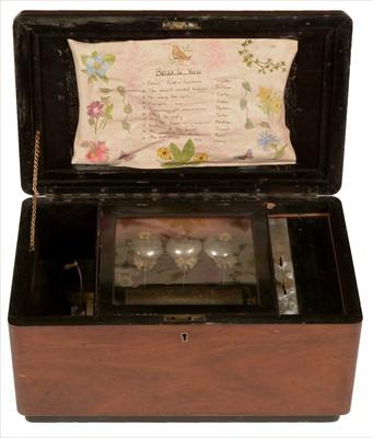 Lot 22-Swiss cylinder music box