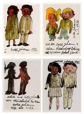 Lot 214 - Johann Korec - watercolour.