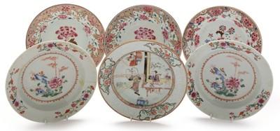 Lot 371-Six Chinese plates