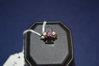 Lot 3-Ruby and Diamond ring