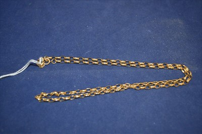 Lot 15-Gold necklace