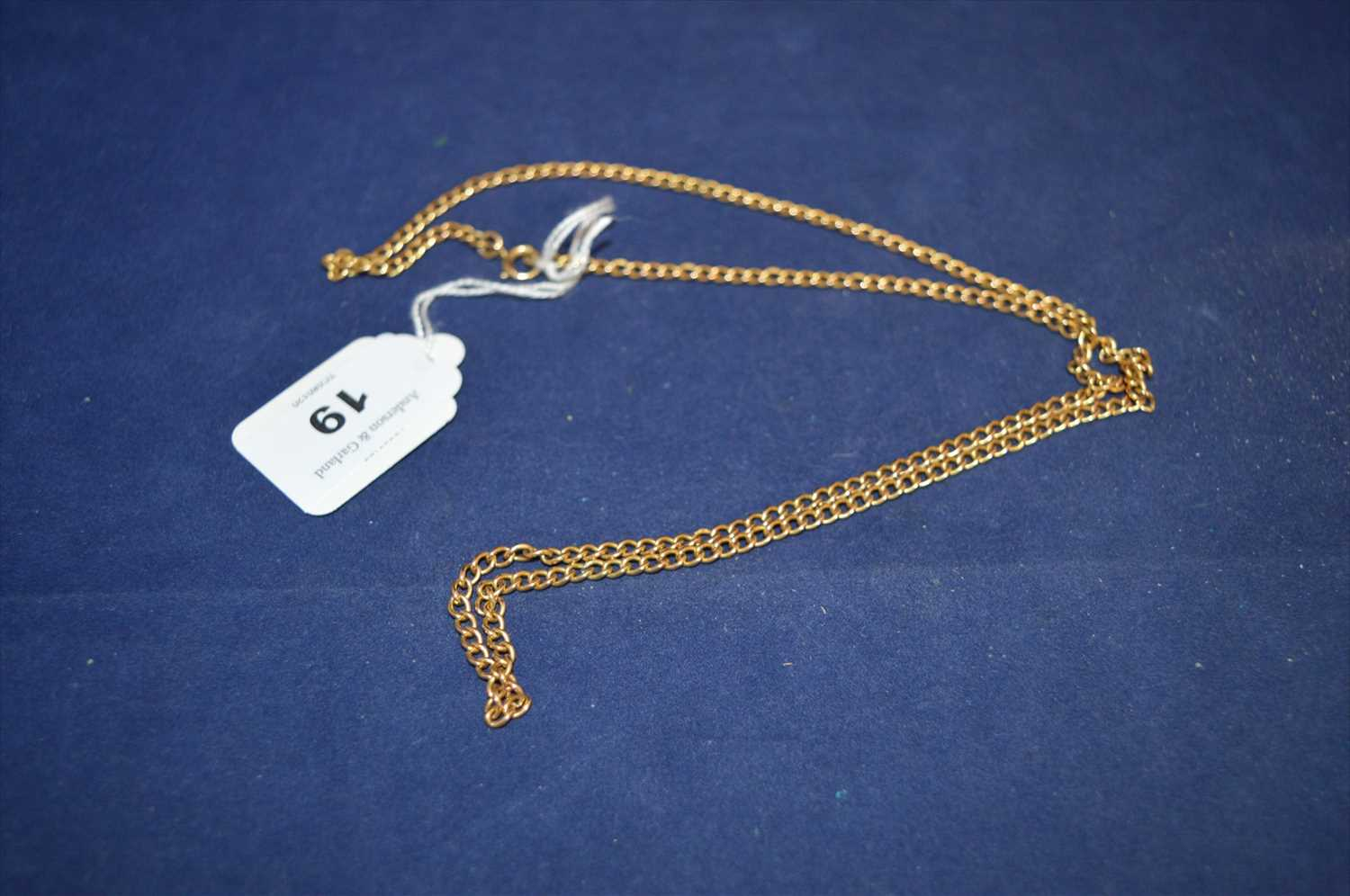 Lot 19-Gold chain