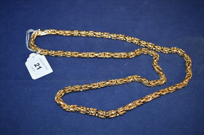 Lot 21-Gold necklace