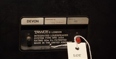 Lot 13-A pair of Tannoy HPD 315A speakers