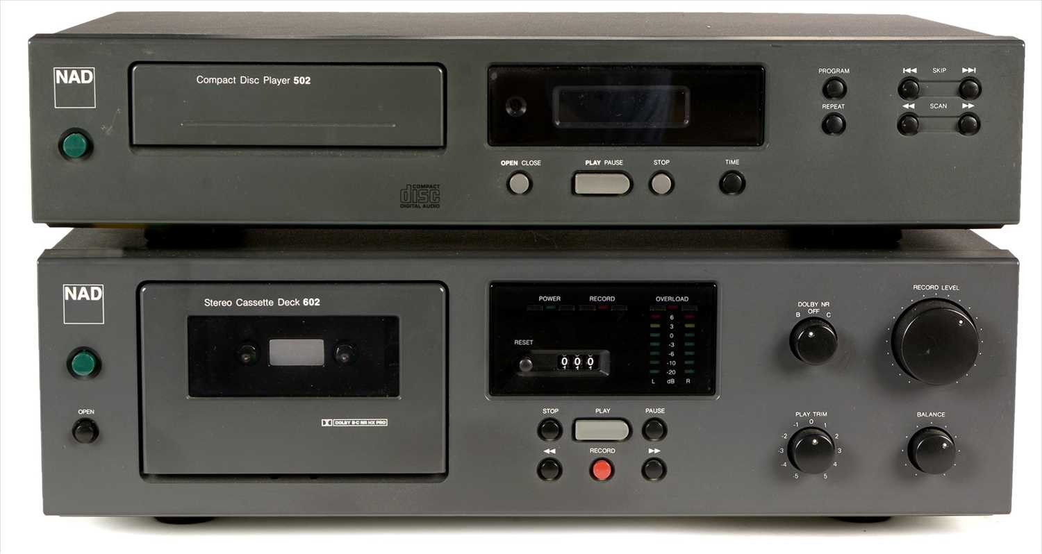 Lot 14-NAD cassette deck and CD player