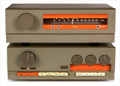 Lot 15-Quad 33 pre-amp and Quad FM3 tuner