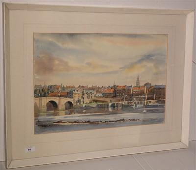 Lot 86-Fred Stott - watercolour.