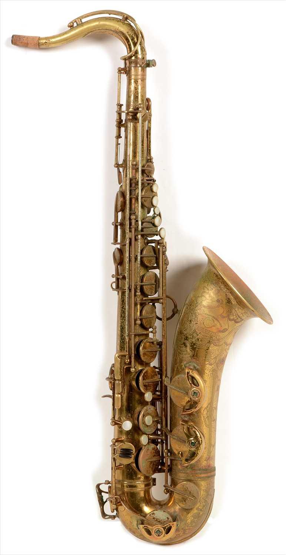 Lot 129-Selmer super balanced action tenor saxophone
