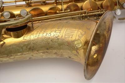 Lot 136 - King super 20 tenor saxophone
