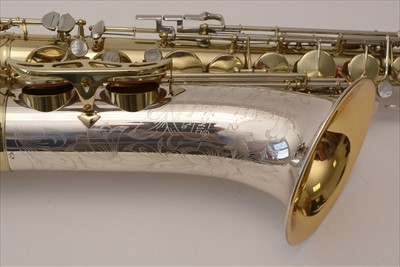 Lot 139-King Super 20 Silver sonic tenor saxophone