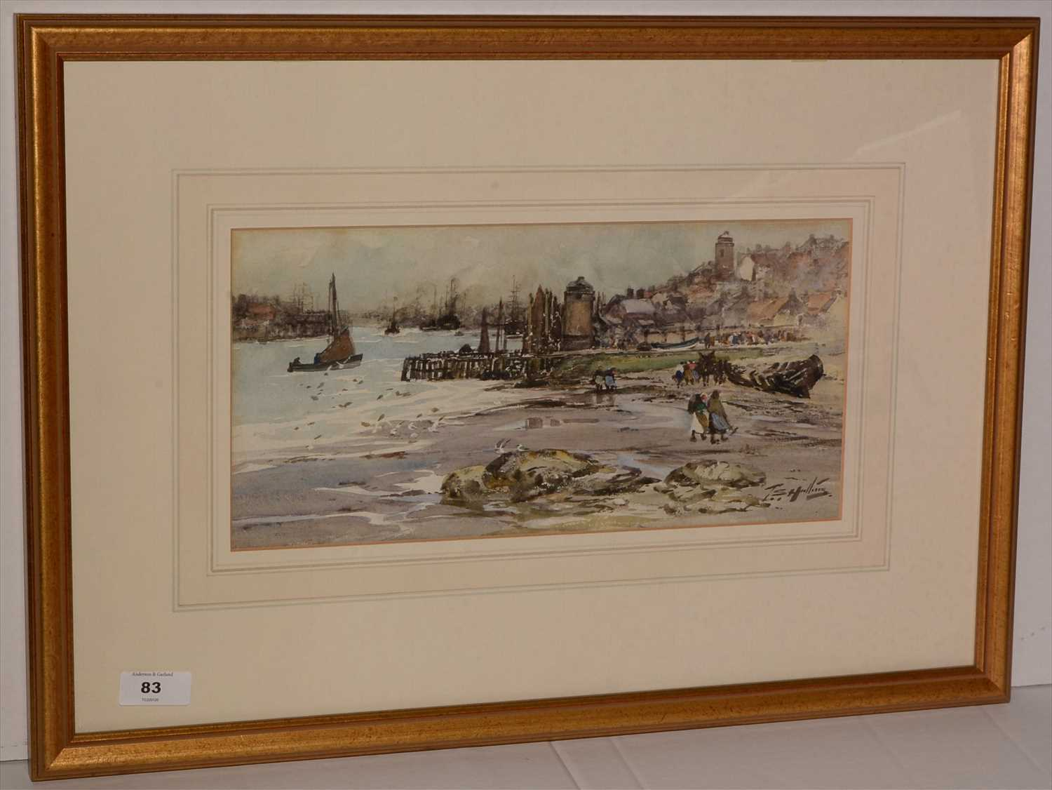 Lot 83-Thomas Swift Hutton - watercolour.