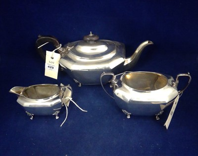 Lot 429-Silver tea service