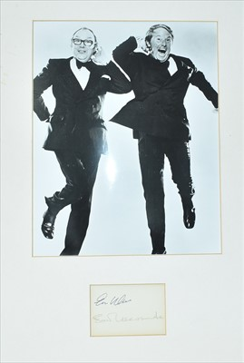Lot 1005-Eric Morecambe and Ernie Wise autographs