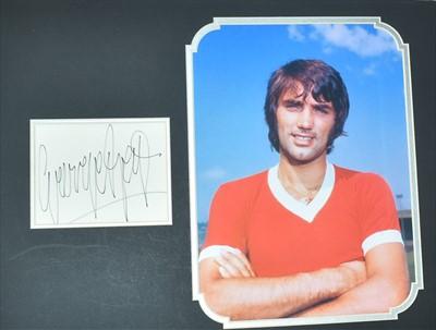 Lot 1006-George Best autograph