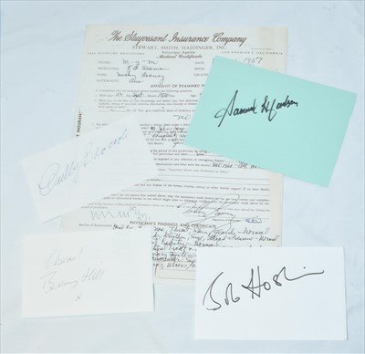 Lot 1007-A selection of signatures