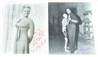 Lot 1008-Autographs Vincent Price and Betty Grable