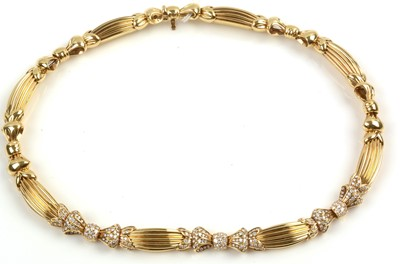 Lot 143-Diamond necklace