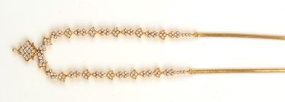 Lot 147-Diamond necklace