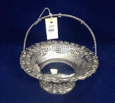 Lot 432-Silver basket