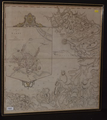 Lot 1002-18th Century English School - map.