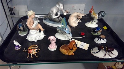 Lot 60-Rosenthal and other figures