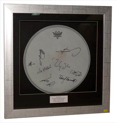 Lot 1003A-Mark Knopfler signed drum skin
