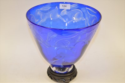 Lot 124-Linstead glass bowl