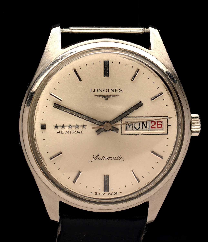 Lot 6-Longines Admiral automatic wristwatch