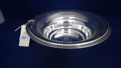 Lot 401-American silver bowl