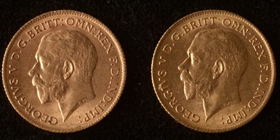 Lot 1011-Two gold half sovereigns