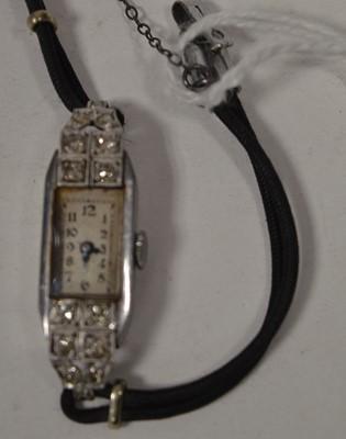 Lot 231 - Diamond set cocktail watch