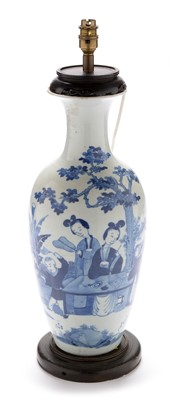 Lot 378-Chinese blue and white vase