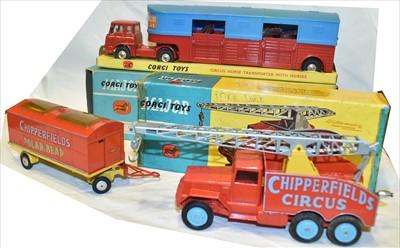 Lot 174 - Corgi Circus vehicles