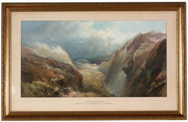 Lot 614 - Thomas Miles Richardson, jnr. - watercolour.