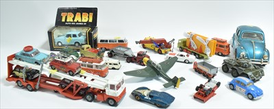 Lot 203-Corgi and Dinky vehicles