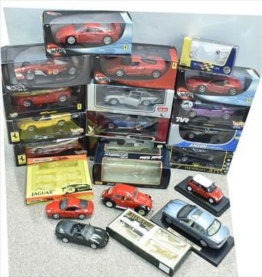 Lot 210 - Diecast sports cars