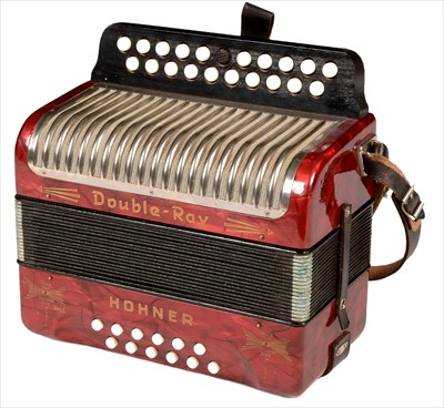 Lot 3-Hohner button accordion.