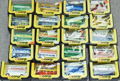 Lot 217 - Corgi buses