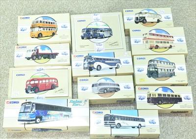 Lot 218 - Corgi Buses