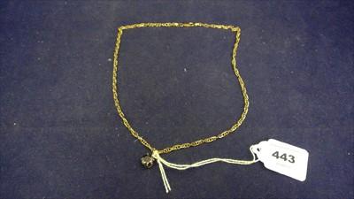 Lot 443-Black diamond pendant
