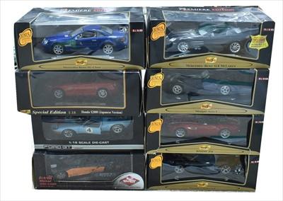 Lot 243 - Diecast sports cars