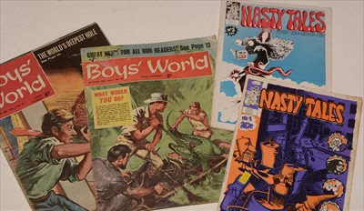 Lot 3-Boys' World and Nasty Tales.